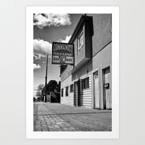 Community Pub & Eatery Art Print