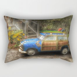 Off to Fulfill a Surfing Dream Rectangular Pillow