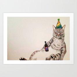 Party Cat Art Print