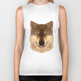 Wolf | Natural polygon wolf Biker Tank