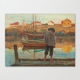 Carl Wilhelmson Boy Fishing Canvas Print