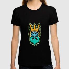 Poseidon Greek God Mascot T-shirt