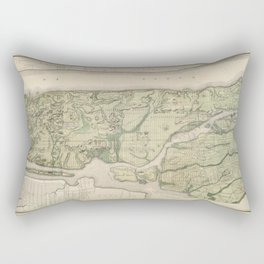 1874 Topographical Atlas of New York City (Manhattan/New Amsterdam) Rectangular Pillow