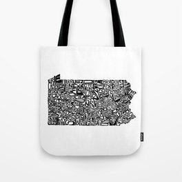 Typographic Pennsylvania Tote Bag