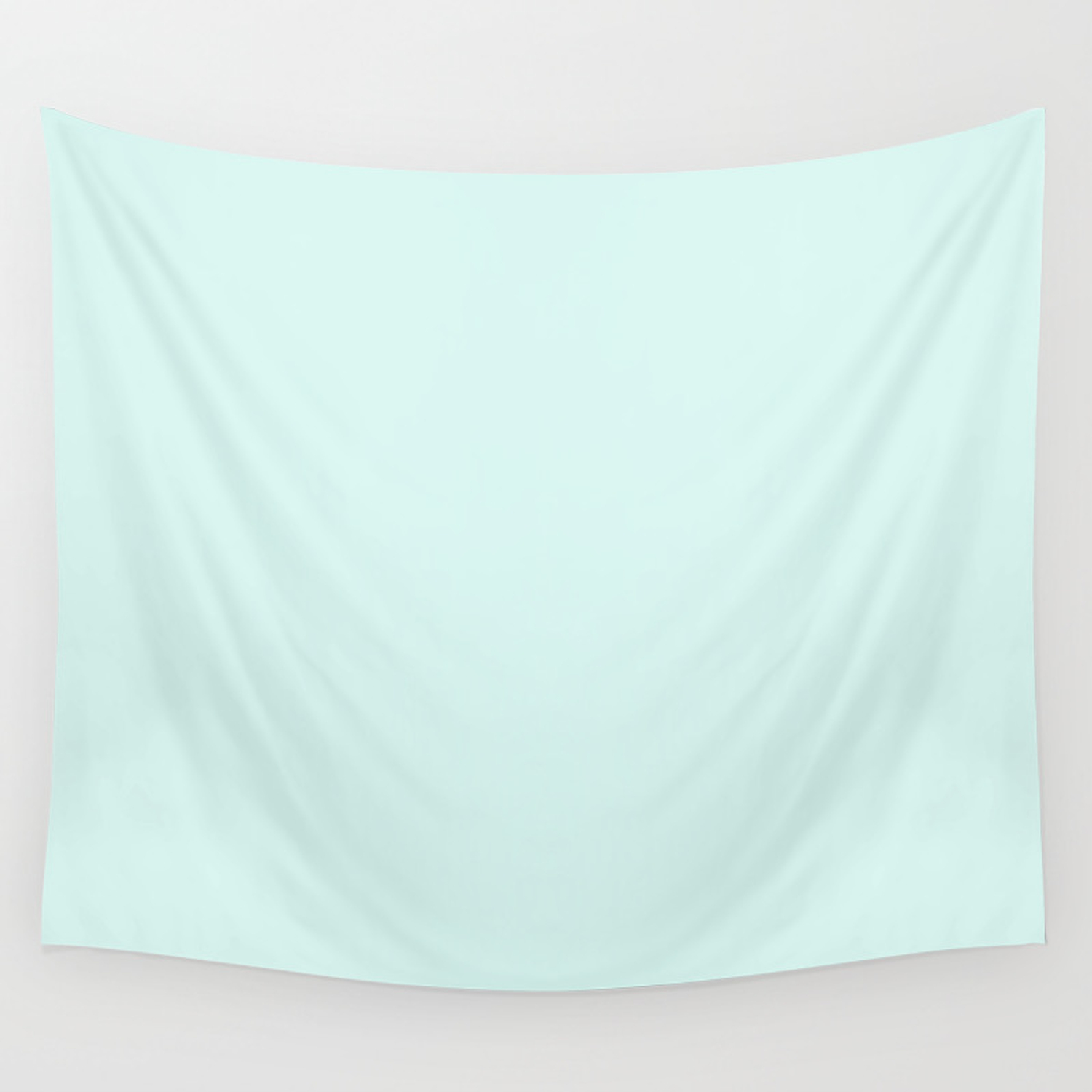 Light Cyan Soft Mint Green Solid Matte Colour Palette Wall Tapestry