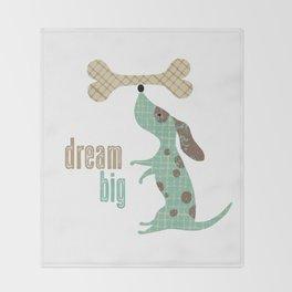 Dream Big Dog with Bone Throw Blanket
