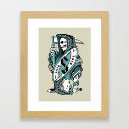 Death card Framed Art Print