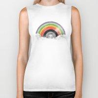 rainbow Biker Tanks featuring Rainbow Classics by Florent Bodart / Speakerine