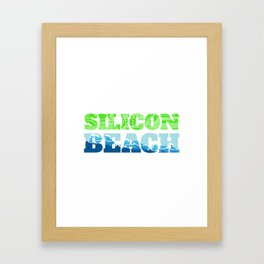 Silicon Beach Wave Framed Art Print