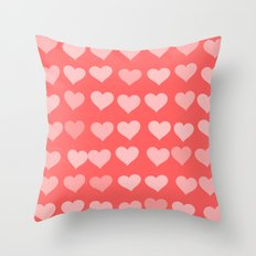 Cute Hearts Throw Pillow
