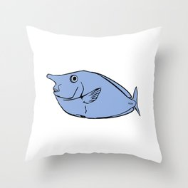 Unicorn fish illustration Throw Pillow