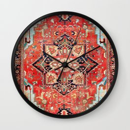 Heriz Azerbaijan Northwest Persian Rug Print Wall Clock