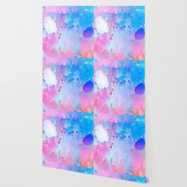 Abstract Candy Glitch - Pink, Blue and Ultra violet #abstractart #glitch Wallpaper