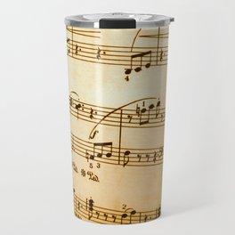 Music Sheet Travel Mug