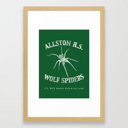 Alston H.S. Wolf Spiders - Infinite Jest Framed Art Print