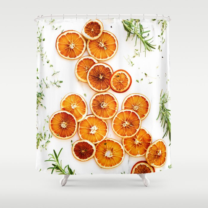 Pure Citrus (Color) Shower Curtain