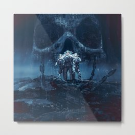 Planet of Doom Metal Print