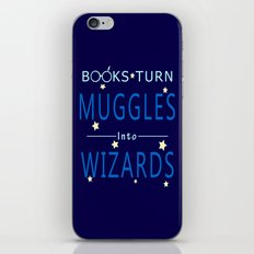 POTTER - BOOKS TURN MUGGLES INTO WIZARDS iPhone & iPod Skin