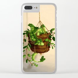 Succulent dragon Clear iPhone Case