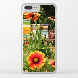 Bee Sanctuary Garden Clear iPhone Case