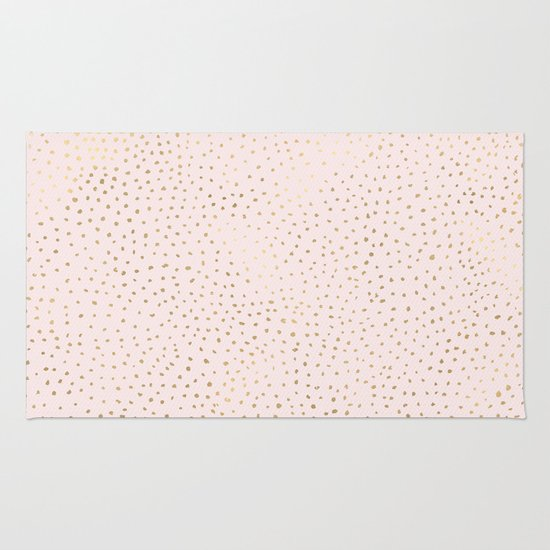 Dotted Gold & Pink Rug By Caitlin Workman