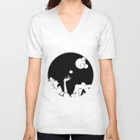 bubble V-neck T-shirts featuring bubble  by Līva