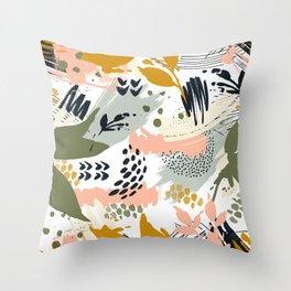 Abstract strokes still life Throw Pillow