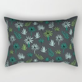 Palm tropical illustration by andrea lauren palm leaves palm trees desert island Rectangular Pillow