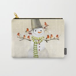 Snowman and Birds Carry-All Pouch