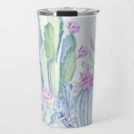Mixed Cacti Light Blue #society6 #buyart Travel Mug