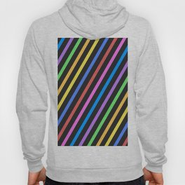 Purple Yellow Blue Black trippy stripes Hoody