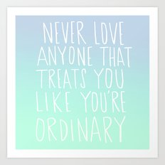 Oscar Wilde: Ordinary Art Print