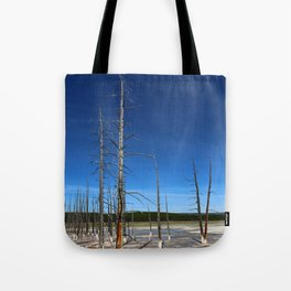 Lodgepole Pines In Geyser Basin Tote Bag