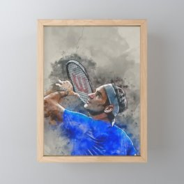 Roger Federer Framed Mini Art Print