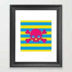 Summertime Pirate Framed Art Print