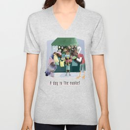A day in the market Unisex V-Neck