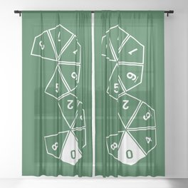 Unrolled D10 Sheer Curtain