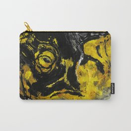 Yellow and Black Abstract Painting Carry-All Pouch