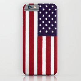 USA flag - Painterly impressionism iPhone Case