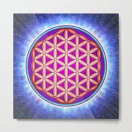 Flower Of Live - Primal Energy Metal Print