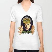 rap V-neck T-shirts featuring Rap God by RJ Artworks