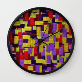 Midnight Musings Strong Strokes Wall Clock