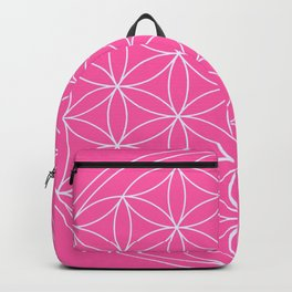 Flower of Life Pink & White Backpack