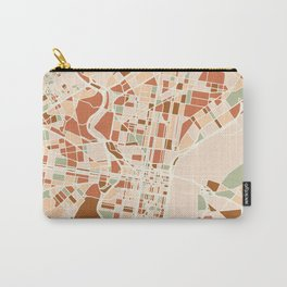 PHILADELPHIA PENNSYLVANIA CITY MAP EARTH TONES Carry-All Pouch