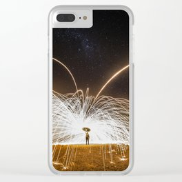 fire rain Clear iPhone Case