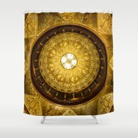 college Shower Curtains featuring Flagler College by MucklowArt