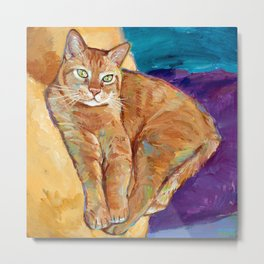 Contemplative Kitty Metal Print