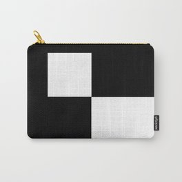 Black and White Color Block #2 Carry-All Pouch