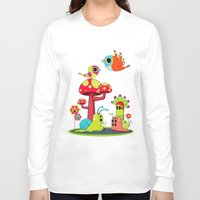 romance Long Sleeve T-shirts featuring Critter Romance by Teodoru Badiu