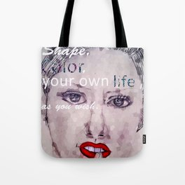 Shape and Color Your Own Life Tote Bag